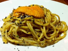 Sea urchin spaghetti at Bestia