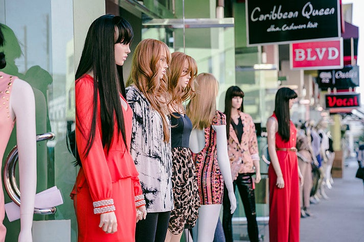 Mannequins at L.A. Fashion District