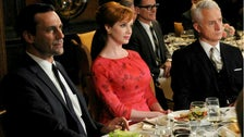 """Don, Joan and Roger at the Clio Awards from """"Mad Men"""" Season Four"""
