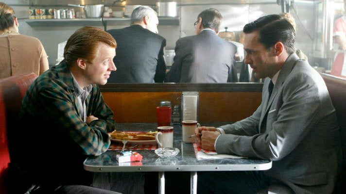 """Don and Adam at the Deelite from """"Mad Men"""" Season One"""
