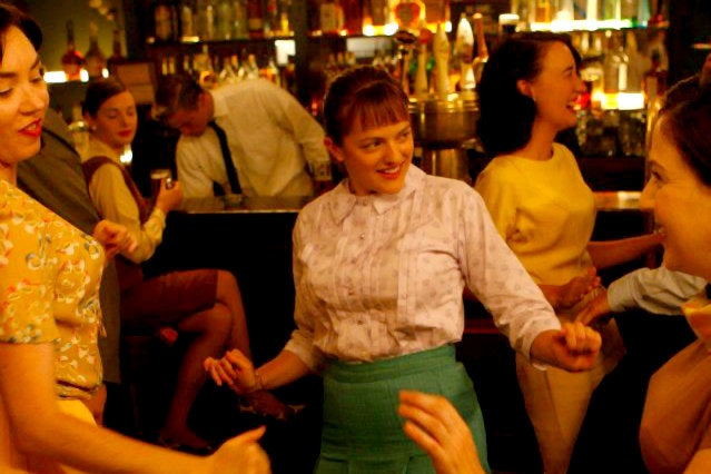"""Peggy at P.J. Clarke's from """"Mad Men"""" Season One"""
