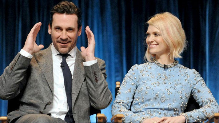Jon Hamm and January Jones at PaleyFest