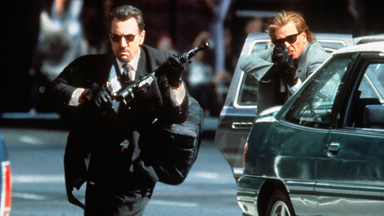 "Robert De Niro and Val Kilmer in ""Heat"""